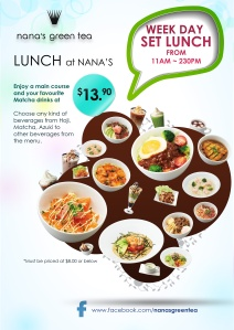 Nana's Green Tea Lunch Set Poster